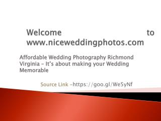 Affordable Wedding Photography Richmond Virginia – It's about making your Wedding Memorable