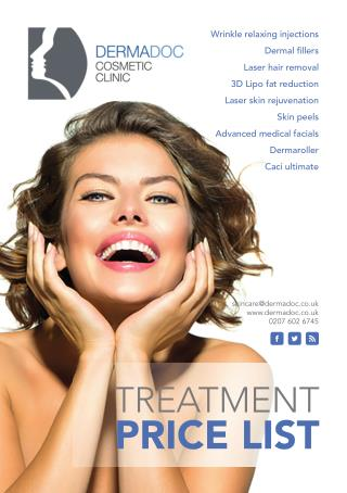 Treatment guide and Dermadoc Price List