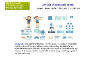 Contact chiropractic center