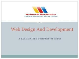 Web Design, Development and SEO Company In India