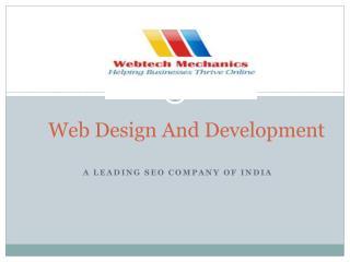 Web Design, Development and SEO Company In India