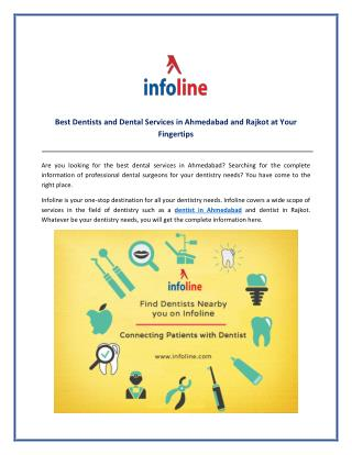 Best Dentists and Dental Services in Ahmedabad and Rajkot at your Fingertips