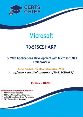 70-515CSHARP Update Test Practice Questions