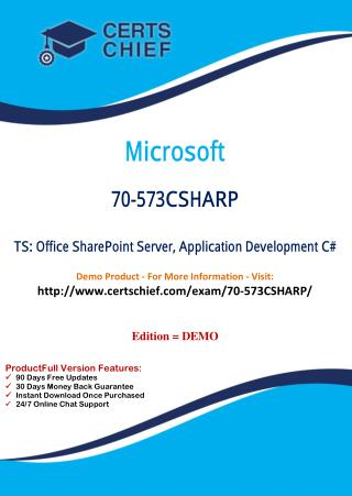 70-573CSHARP Update Test Practice Questions