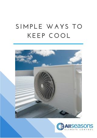 Simple Ways to Keep Cool