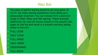 Waxing for Women and Waxing Services