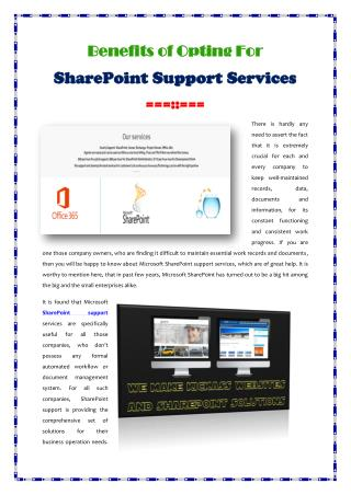 SharePoint Support Services