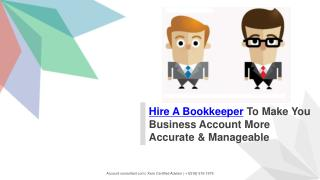 Hire A Bookkeeper | Save Your Money & Time | Xero Certified Partner