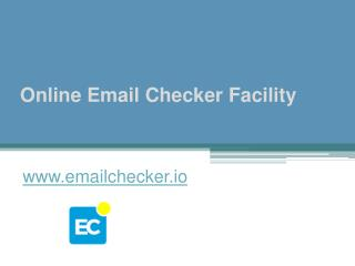 Online Email Checker Facility - www.emailchecker.io