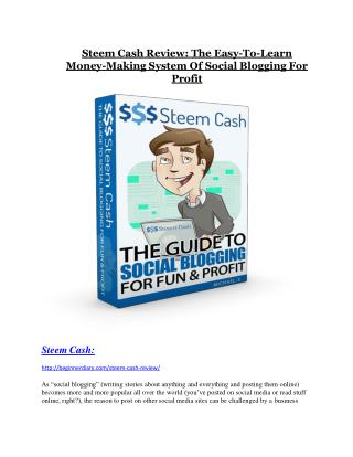 Steem Cash REVIEW & Steem Cash (SECRET) Bonuses