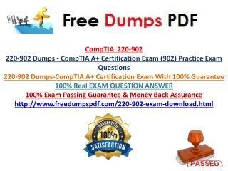 220-902 Practice Exam Questions