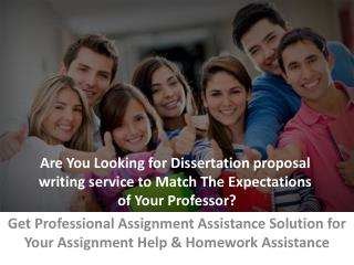 Dissertation Proposal Writing Service UK