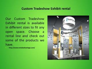 Custom Tradeshow Exhibit rental