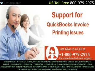 800-979-2975 – QuickBooks Will Not Print Checks and Invoices