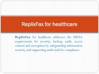 HIPAA Faxing solutions| Secure Cloud Fax Service