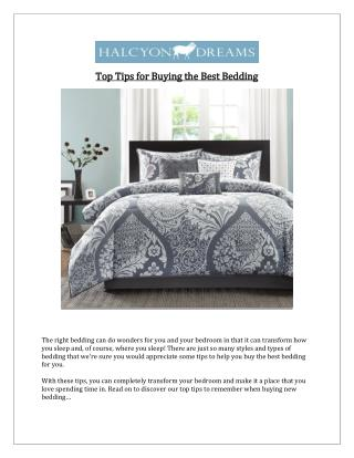 Tips for Buying the Best Bedding - Halcyon Dreams Pty. Ltd.