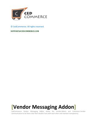 Establish an uninterrupted communication channel with Vendor Messaging Addon