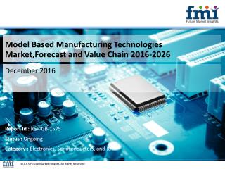 Model Based Manufacturing Technologies Market Volume Analysis, Segments, Value Share and Key Trends 2016-2026