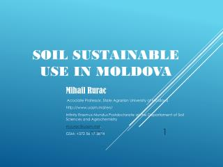 Soil use in Moldova