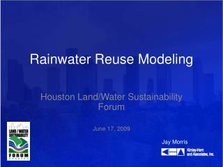Rainwater Reuse Modeling