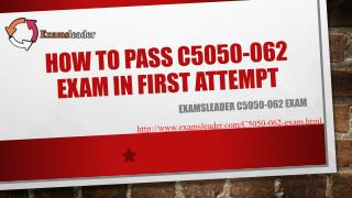 Examsleader C5050-062 Real Exam Questions