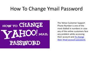 How to change password in Yahoo mail