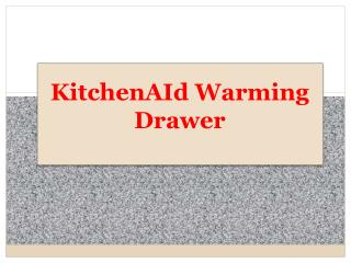 KitchenAid Warming Drawer In Malaysia