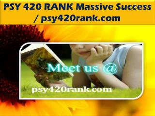 PSY 420 RANK Massive Success / psy420rank.com