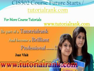 CIS 502 Course Experience Tradition / tutorialrank.com
