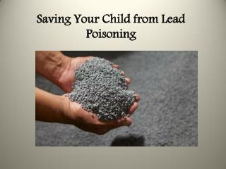 Saving Your Child from Lead Poisoning