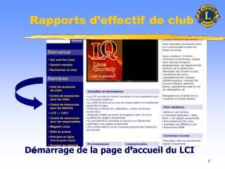 Rapports d effectif de club