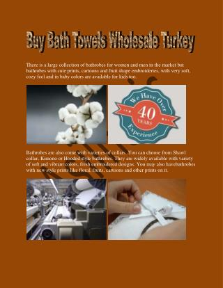 Buy Bath Towels Wholesale Turkey