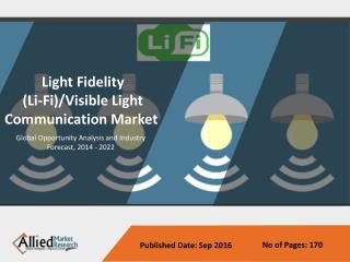 Light Fidelity (Li-Fi)/Visible Light Communication Market 2014-2022