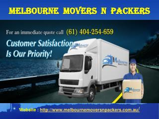 Melbourne Movers n Packers | Best Movers in Melbourne | Cheap Furniture Movers Melbourne
