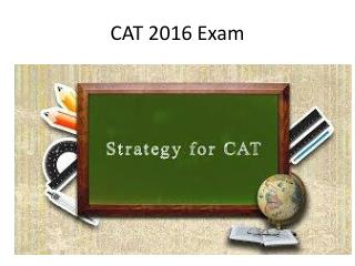 CAT Exam Analysis 2016