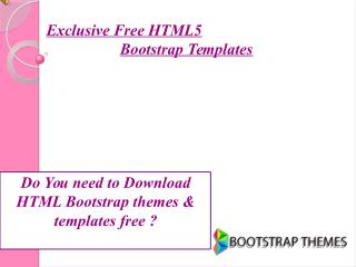 Exclusive Free HTML5 Bootstrap Templates