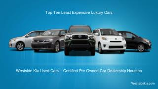 Top Ten Latest Expensive Luxury Cars