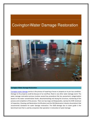 Covington Water Damage