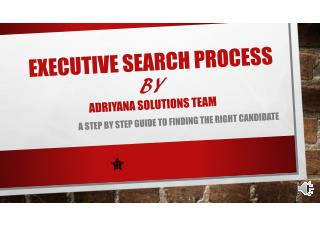 Executive Search Firm Work Process