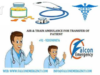 Advanced Air Ambulance Services in Aizwal and Along by Falcon Emergency