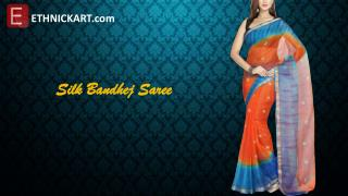 Bandhej sarees by ETHNICKART