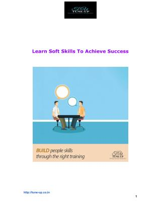 Learn Soft Skills To Achieve Success