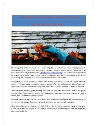Asfordby Valley Gutter Cleaning