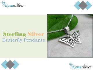 Sterling Silver Butterfly Pendants - Kamarsilver