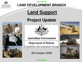 LAND DEVELOPMENT BRANCH  Land Support  Project Update