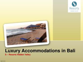 Best Accommodation in Bali