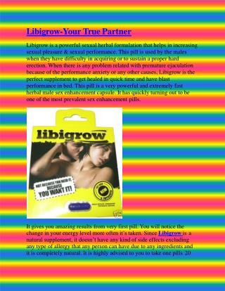 Libigrow-Your True Partner