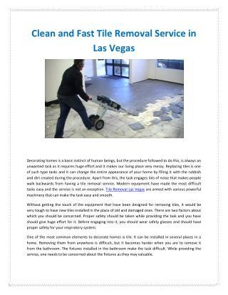 Tile Removal Las Vegas