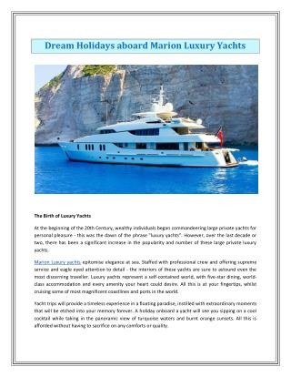 Barling Luxury Yachts