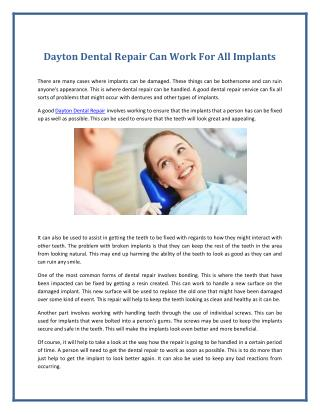 Dayton Dental Repair